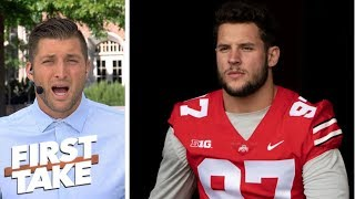 Tim Tebow gets fired up about Ohio State defensive end Nick Bosa wi...
