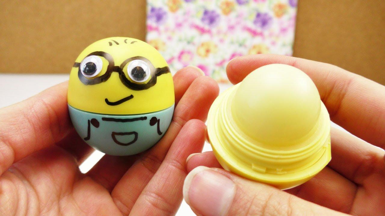 eos lipbalm diy | minion eos selber machen | super süße dekoideen