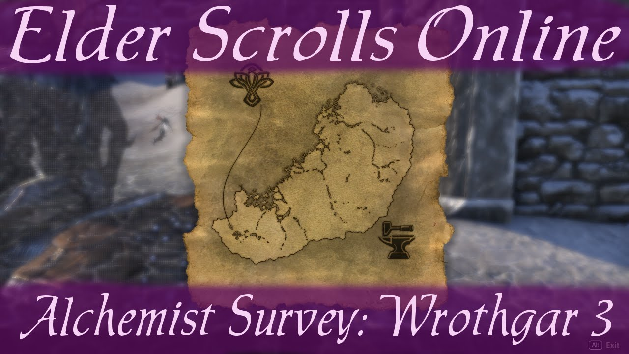 Alchemist Survey Wrothgar 3 Elder Scrolls Online Eso Youtube