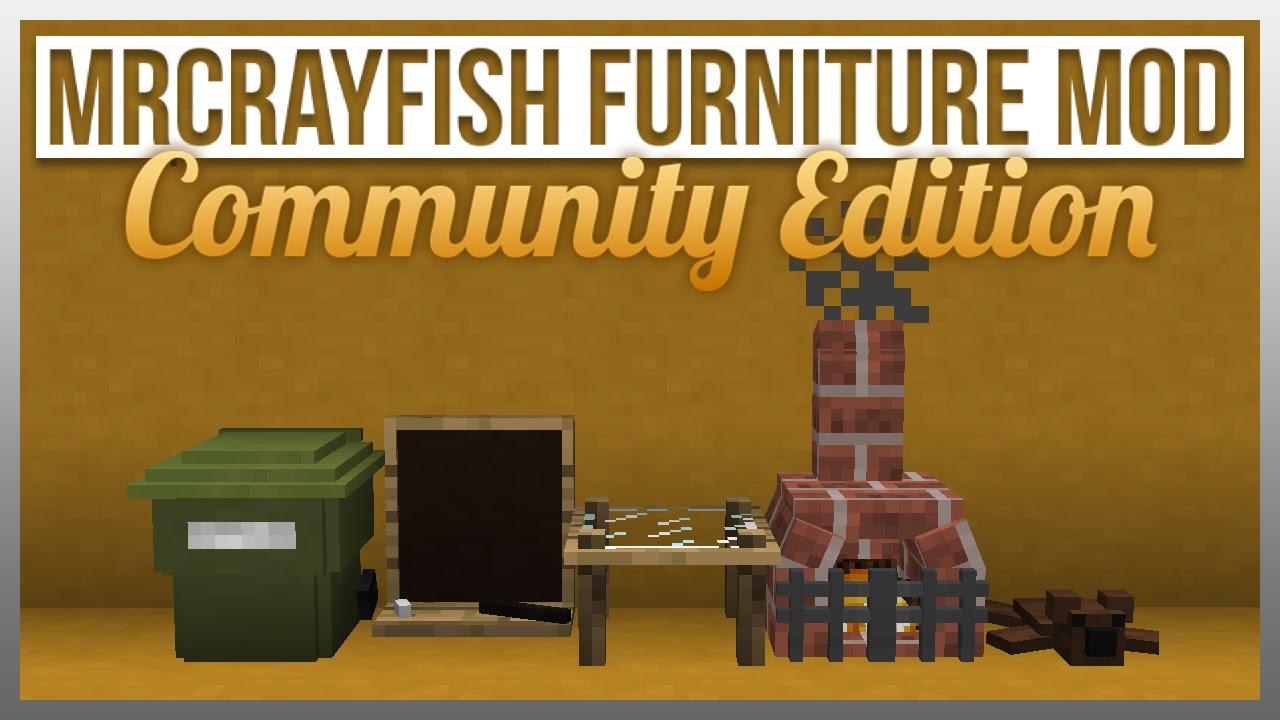 Mrcrayfish 39 S Furniture Mod Ce Update 2 Wheelie Bin Blackboard And More Youtube
