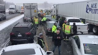 Massive pileup shuts down part of Highway 401 in Milton