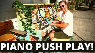 I Played the Lumineers on Piano in Public | local artists come together | Portland Oregon