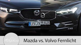 Volvo Voll-LED-Scheinwerfer vs. Mazda Matrix-LED Pro und Contra [4K] - Autophorie