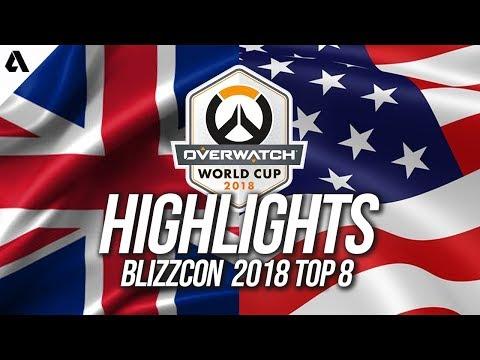 Team USA vs Team UK | Overwatch World Cup 2018 Quarterfinals Highlights