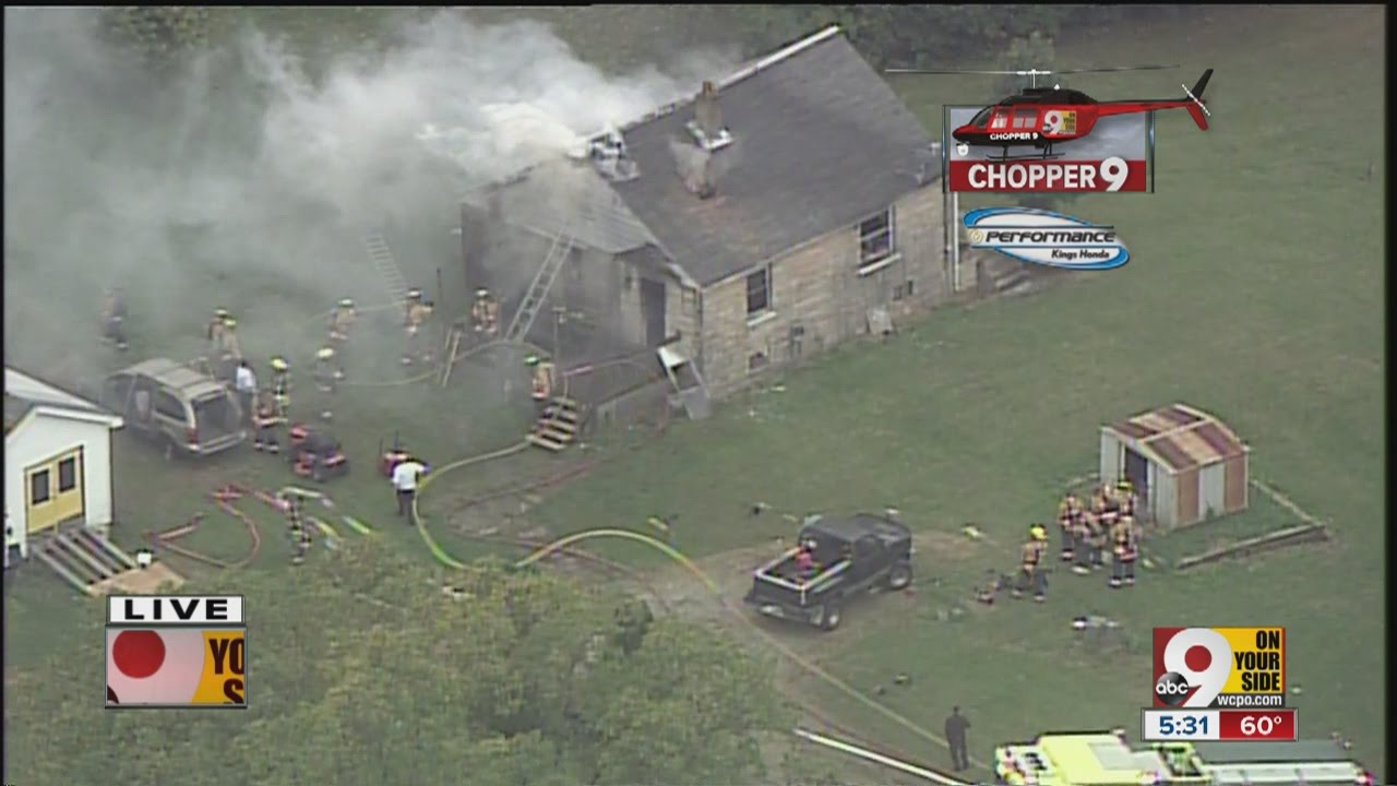 Chopper 9 Exclusive: House fire in Liberty Township