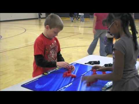 Cup Stacking at Community Elementary School