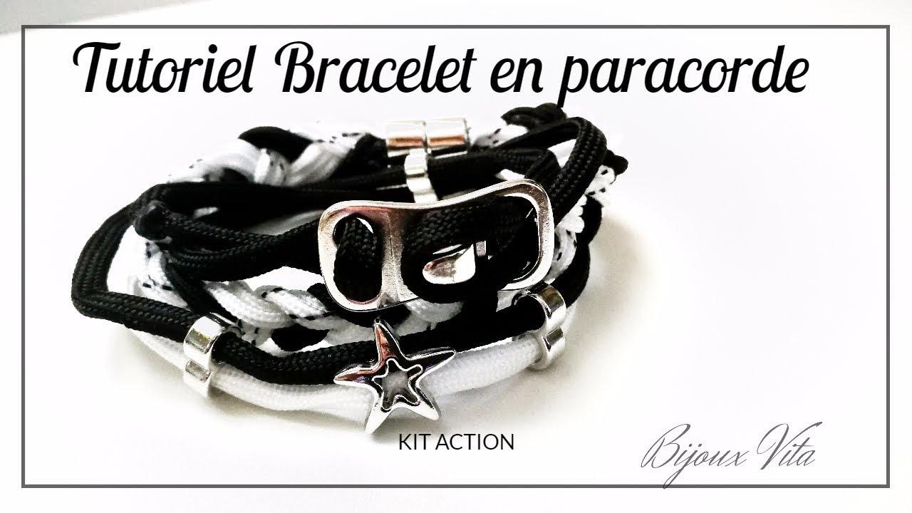 Très Tutoriel de bracelet paracorde, kit Action🔨🔧⚒💍 - YouTube XG93