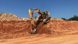 Excavator Tracking off the Cliff!! Dirt Pit