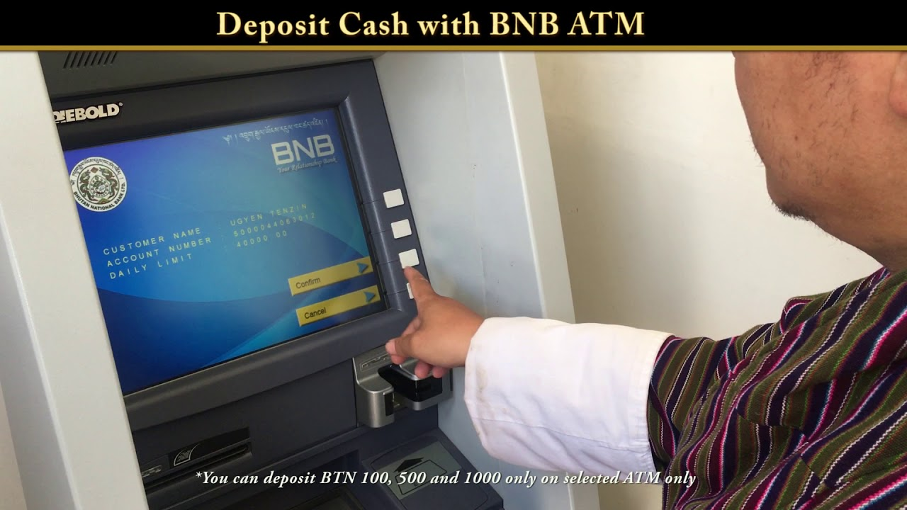 Deposit Cash with BNB ATM