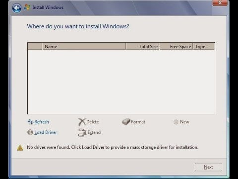 Hard Disk Not Detected While Installing Windows