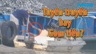 Cảnh sát và thanh tra giao thông gom tiền hay tuyên truyền trên sông Đồng Nai?