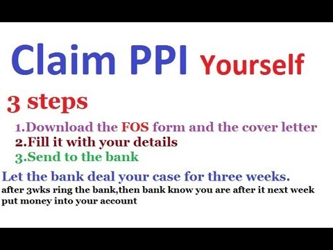 How to claim ppi by yourself i did myself youtube for Martin lewis ppi claim form template