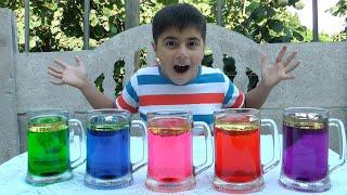 Easy DIY Science Experiment for Kids-Colorful oil with Guka