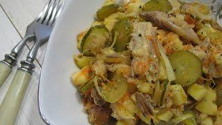 Салат из копченой рыбы | Рыбный салат с яблоком  рецепт | Fish salad | Sałatki rybne