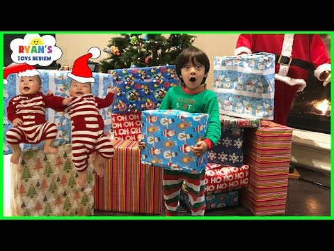 Thumbnail: Christmas Morning 2016 Opening Presents Surprise Toys for Kids Ryan ToysReview