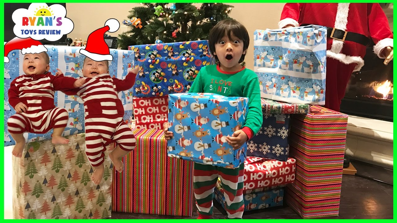 Christmas Morning 2016 Opening Presents with Ryan ToysReview - YouTube