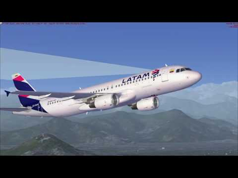 [FSX] Flight Sim Labs A320-X Santiago to Arica