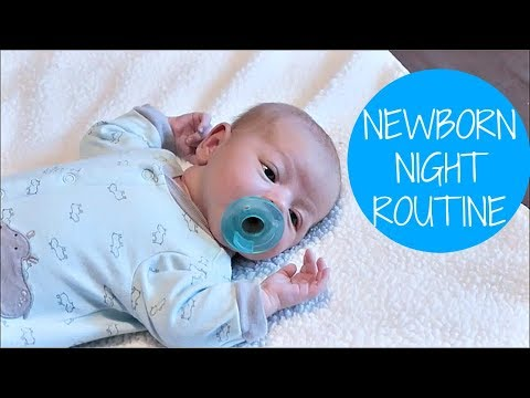 NEWBORN NIGHT TIME ROUTINE! 🌛