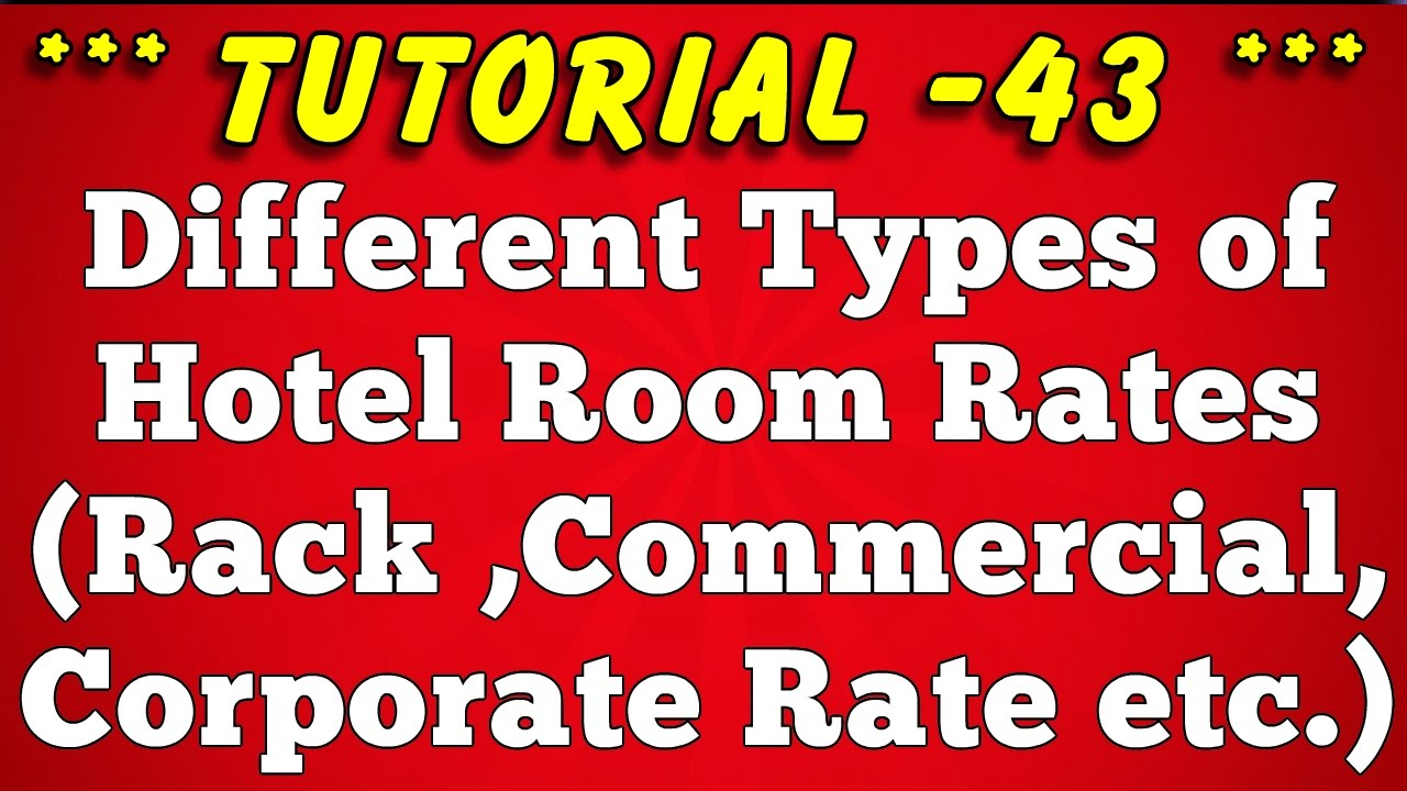 Classification of Hotel Room Rates - Tutorial 43