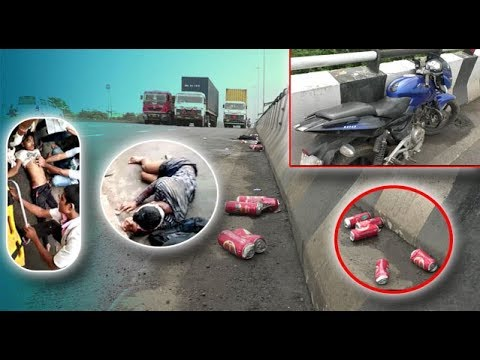 Bootleggers smuggling liquor from Daman to Valsad gets hit by a Car, one  dies on spot