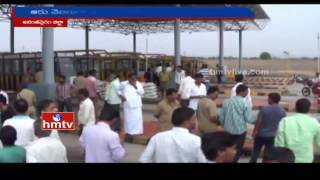 Toll Plaza Contract Employees Protest for Salaries | Anantapur District | HMTV