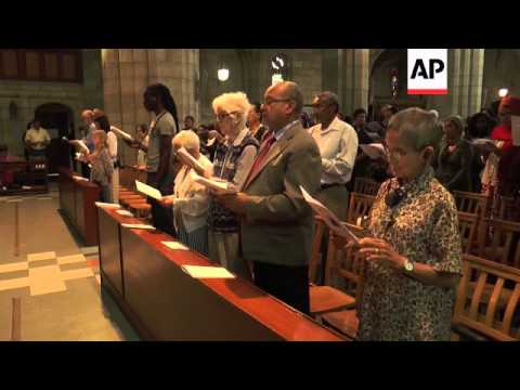 Prayers at cathedral in Cape Town after funeral, reaction from Soweto