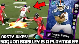 SAQUON BARKLEY IS ON ANOTHER LEVEL! NASTIEST JUKES! Madden 20 Ultimate Team