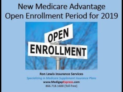 New Medicare Advantage Open Enrollment Period for 2019