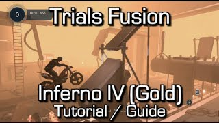 Trials Fusion - Inferno IV (Gold) - Tutorial - Hardest track in the game
