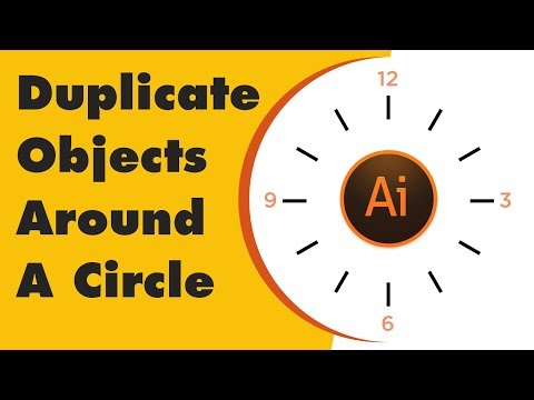 How To Repeat Or Duplicate Object Around A Circle  Adobe Illustrator Tutorial