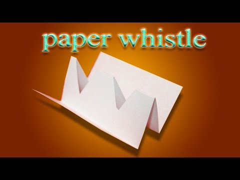 DIY origami whistle | Duh Duh Doo Origami | How to make origami whistle