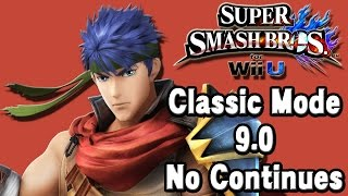 Super Smash Bros. For Wii U (Classic Mode 9.0 No Continues | Ike) 60fps