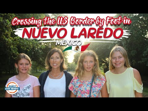 US Border Crossing from Mexico to Laredo Texas By Foot!