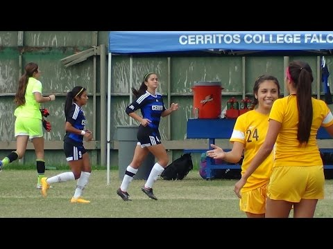Cerritos College vs LA Harbor Women's Soccer 2014 - Clara Gomez Midfielder