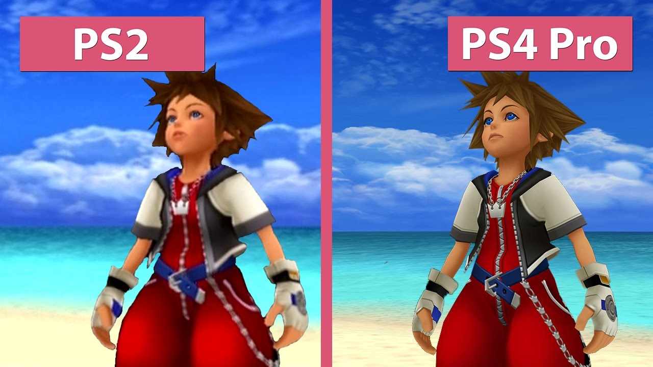 Kingdom Hearts – PS2 vs  PS3 vs  PS4 vs  PS4 Pro 4K UHD Graphics Comparison