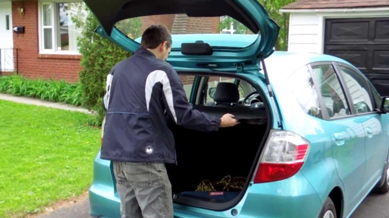 Homemeade trunk cover for Honda Fit  YouTube