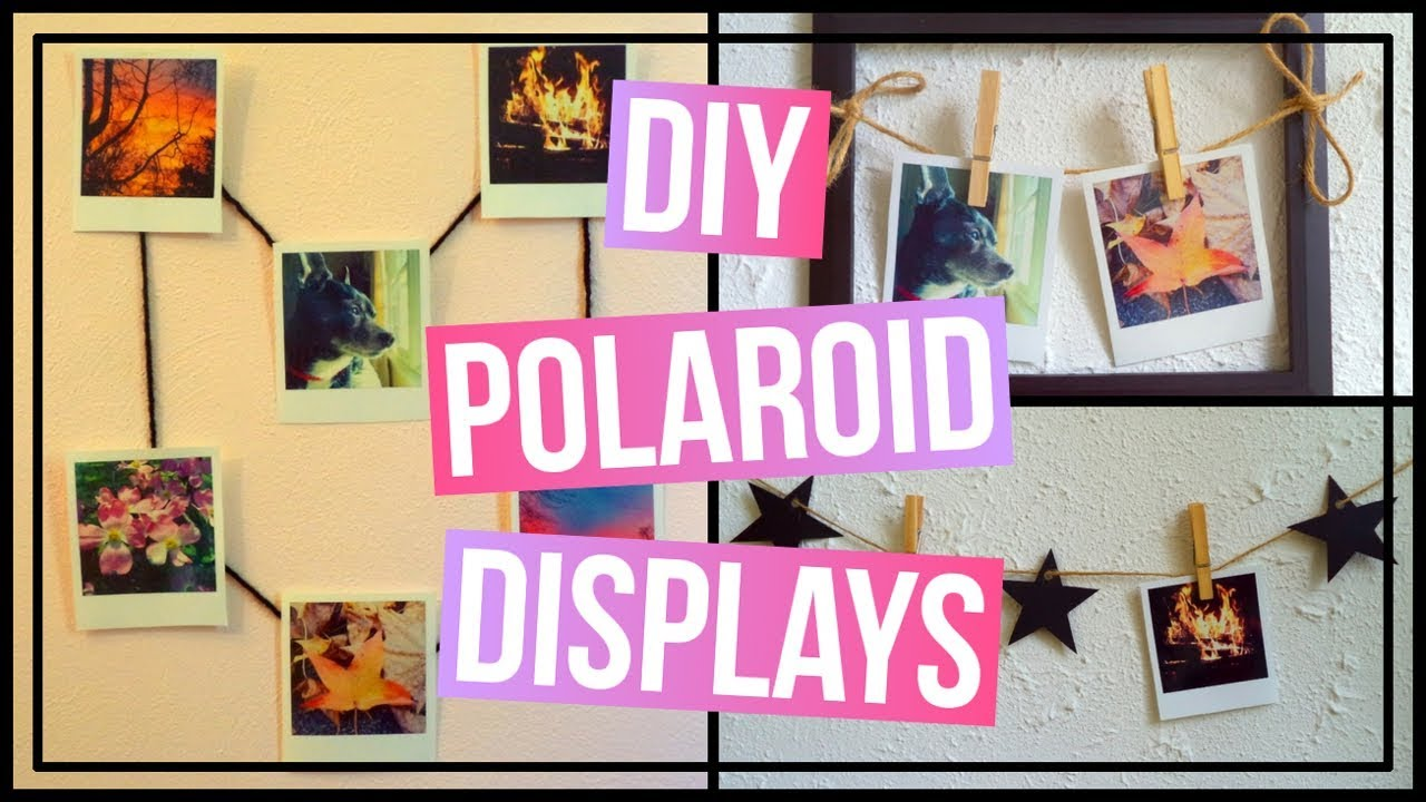 3 DIY Polaroid Wall Art Ideas | DIY Polaroid Garland, Polaroid Frame ...