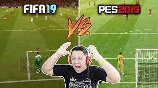 FIFA 19 vs PES 2019 COMPARAÇÃO!! QUEM VENCEU?! (GAMEPLAY, GRÁFICOS ETC)