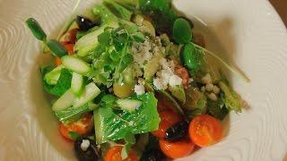 Овощной салат с оливками и спаржей. Рецепт от шеф-повара