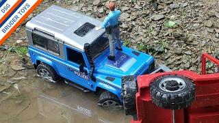 Bruder Toys Traktor Polizei Unfall Abschleppwagen Wracker Tractor Claas Police Accident Playmobil