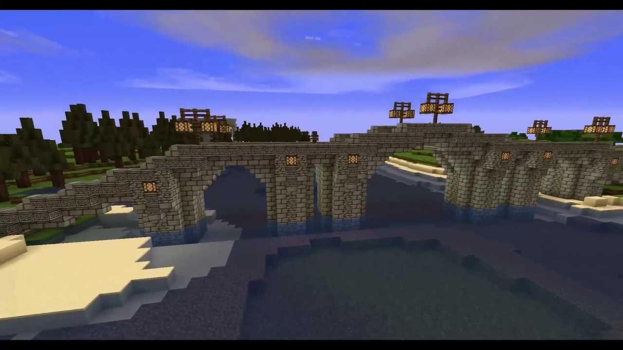 Minecraft Medieval Bridge Timelapse : NPG - YouTube