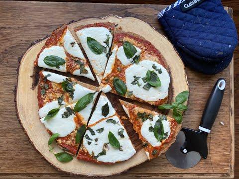 Keto Margherita Pizza with Eggless Almond Flour Base. (किटो पिज़्ज़ा) Italian comfort food.