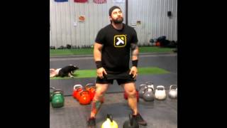 Advanced Kettlebell Training  : HIIT Double Cleans and Overhead Squats