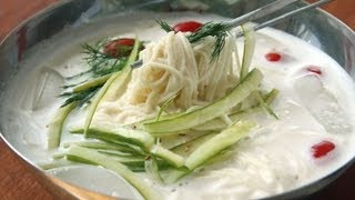 """Soy milk noodle soup (""""kongguksu"""":콩국수)"""