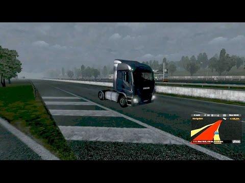 Euro Truck Simulator 2: Sand transportation from Prague to Poznan