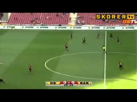 Gheorghe Hagi's crazy 180-degree pirouette pass in a Galatasaray v Barcelona legends match