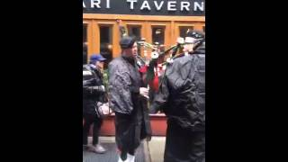 Pre-parade warm ups and line ups.(New York Tartan Week Parade April 9, 2016., 2016-04-09T21:04:22.000Z)