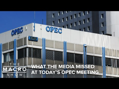 What The Media Missed At Today's OPEC Meeting