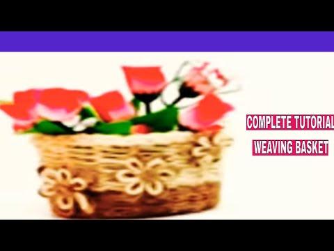 DIY HANDICRAFT: COMPLETE TUTORIAL TO MAKE A WEAVING BASKET|DIY Paper Weaving Basket