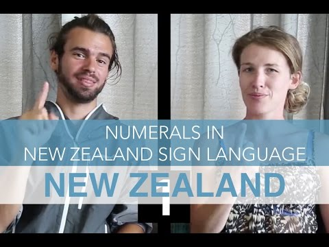 Numbers in New Zealand Sign Language